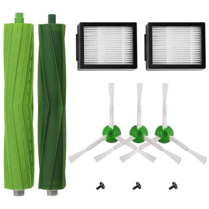R5386 Kit D'accessoires de remplacement Pour Irobot Roomba I7 I7 +-I7 Plus E5 E6 E7 Série Aspirateur Robotique, 2 Filtres + 3