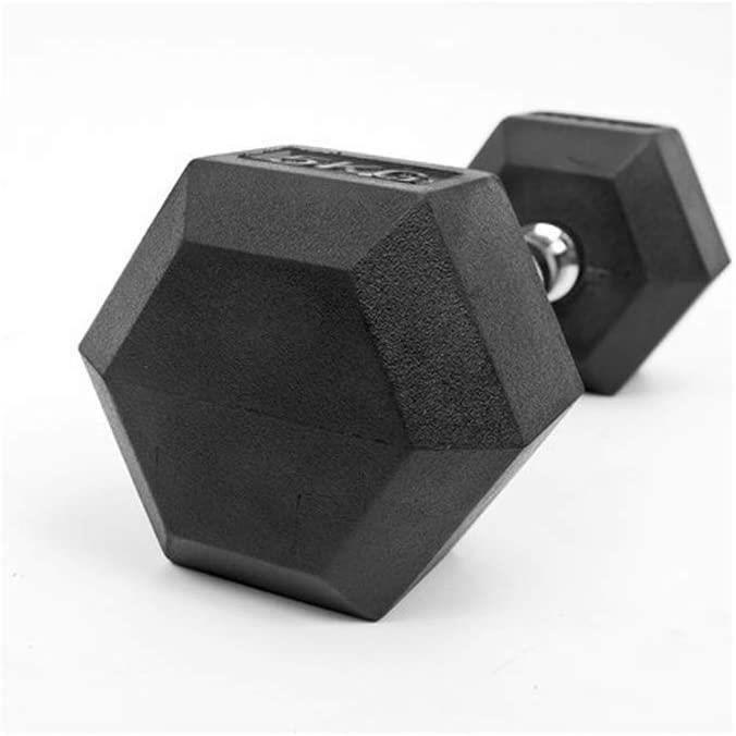 HALTERE YC Halt&egraveres Dumbbell Musculation 1pcs Hexagonal caoutchout&eacutee Halt&egravere Gym Fitness D&eacutedi&eacute753
