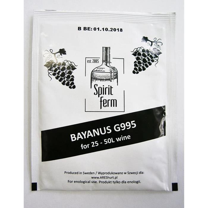 Levure de vin pour 50 L - levure pour tous les vins, fruits, cidre, vin rouge, vin blanc