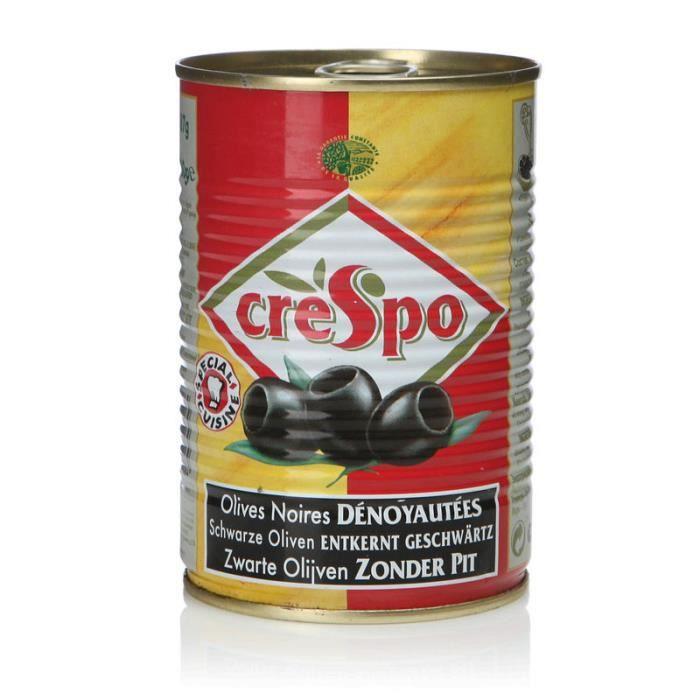 CRESPO Olives noires denoyautées - 170g