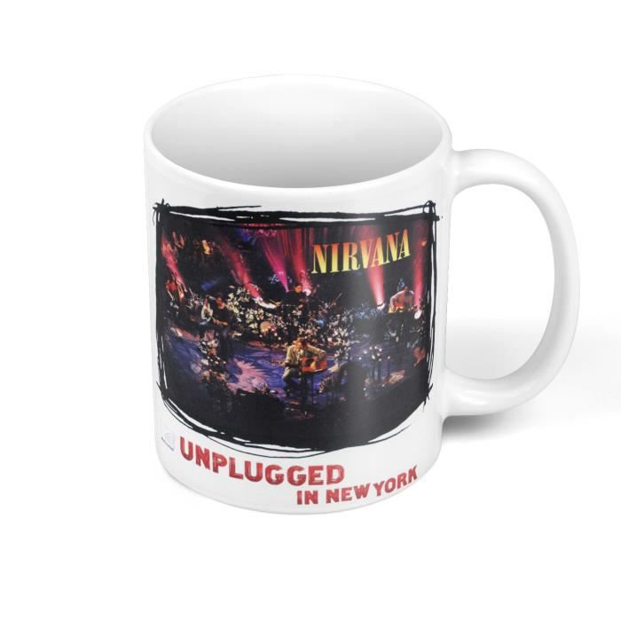 Mug Céramique Nirvana Kurt Cobain Rock Grunge Album Unplugged New York