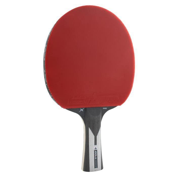 JOOLA Racket tennis de table Carbon X Pro Compétition professionnelle approuvée l'ITTF 7 étoiles, épaisseur éponge 2 MM, Noir-Gris