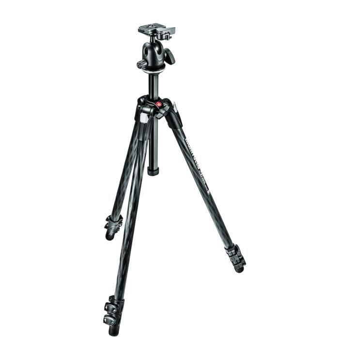 Manfrotto MK290XTC3-BH, Caméras numériques, 5 kg, 3 pieds, 179,5 cm, Noir, 35 cm
