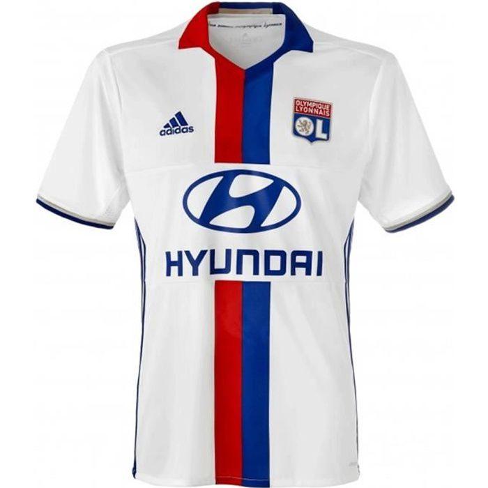 Maillot LYON Olympique Lyonnais OL Domicile Jersey Blanc AI8163