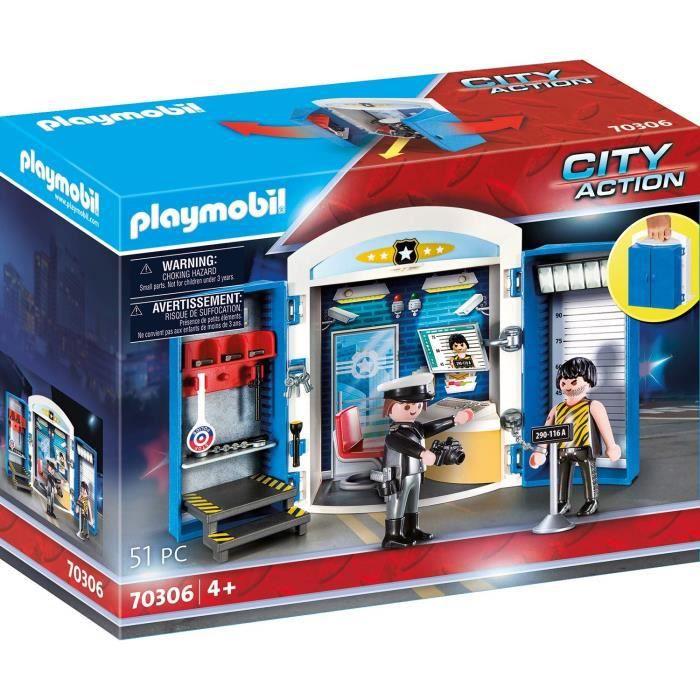 PLAYMOBIL - 70306 - Coffre Commissariat de police