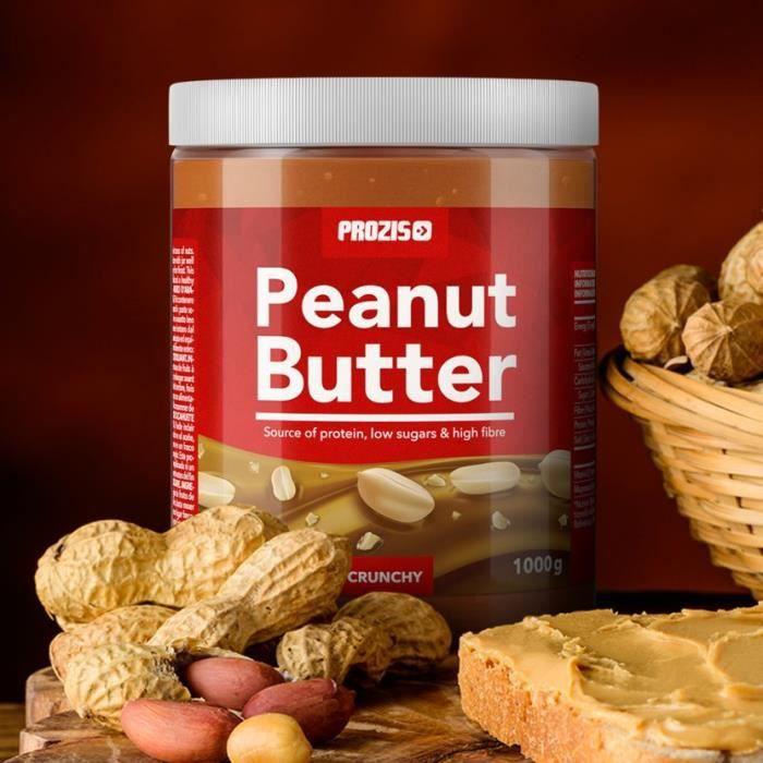 PROZIS - Beurre de Cacahuète 1 000 g - Onctueux - Source de protéines