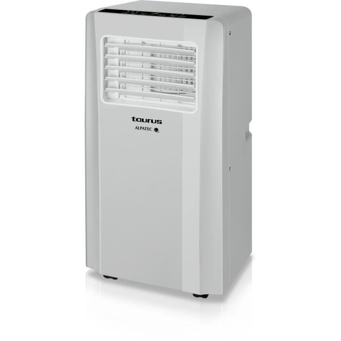 Climatiseur mobile monoboc gris clair 2600 W