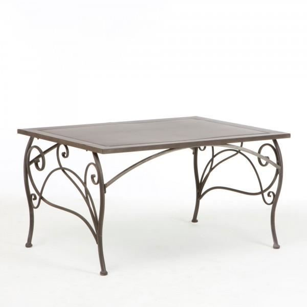TABLE BASSE EN FER FORGE PATINE CHINON - Achat / Vente ...