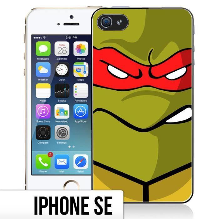 Coque iPhone SE Tortue Ninja - Raphael