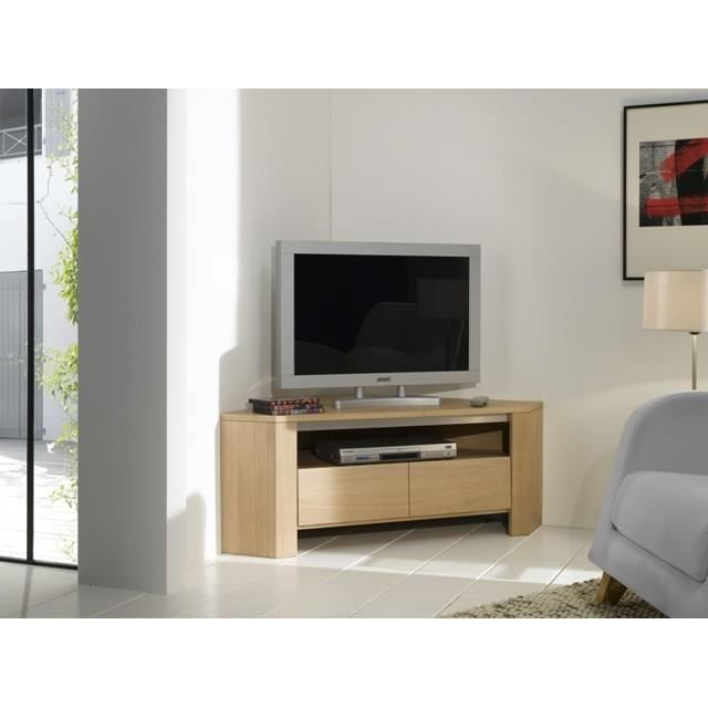 meuble t l d 39 39 angle pyla chene massif achat vente meuble tv meuble t l d 39 39 angle pyla. Black Bedroom Furniture Sets. Home Design Ideas
