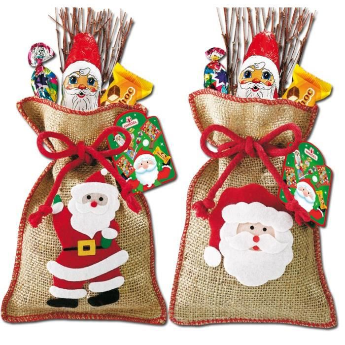 sac de jute pere noel chocolat 14 pi ces achat vente confiserie de chocolat sac de jute. Black Bedroom Furniture Sets. Home Design Ideas