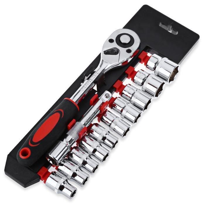 4 /'/' pouces Mini clé à cliquet Kit de clé à douille Douille à cliquet Clé 1