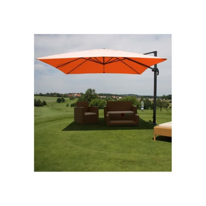 parasol d port carr orange 4 3 m achat vente parasol ombrage parasol d port carr orang. Black Bedroom Furniture Sets. Home Design Ideas