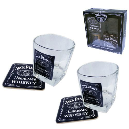 coffret verres jack daniel 39 s avec sous verres achat vente verre cocktail cdiscount. Black Bedroom Furniture Sets. Home Design Ideas