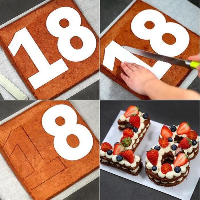 Grand nombre de silicone moule gâteau 2 étain moule de 2ème Anniversaire Anniversaire