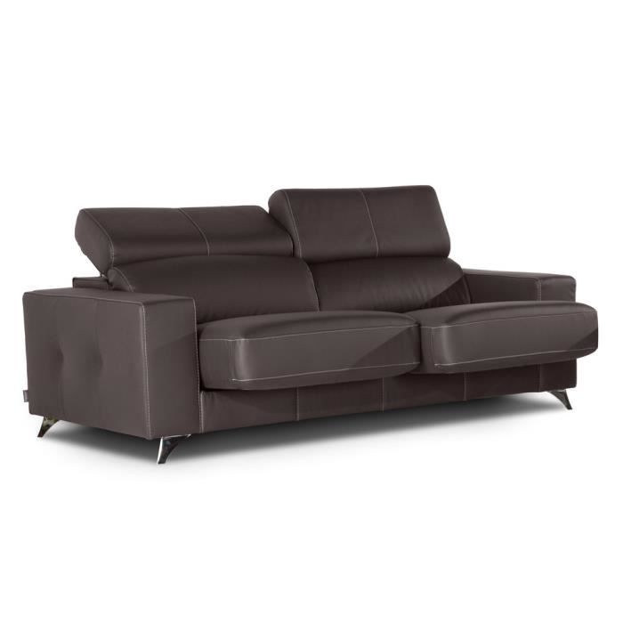 canap fixe 3 places switsofa dali 2 chocolat achat. Black Bedroom Furniture Sets. Home Design Ideas