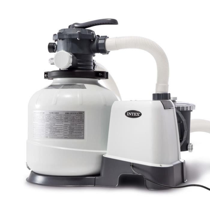 DALLE - PIED DE PARASOL Intex Pompe de filtration à sable Krystal Clear 26