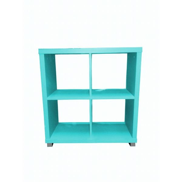 Cube 4 cases turquoise achat vente petit meuble for Meuble 4 cases but