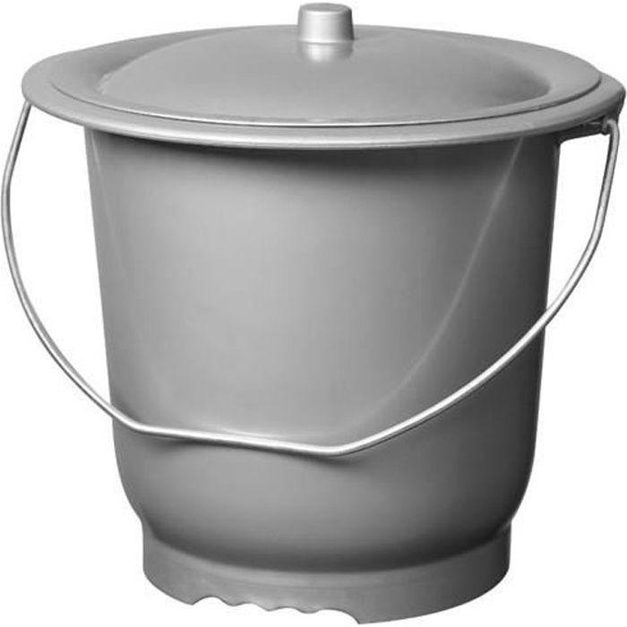 Pot de chambre adulte avec couvercle