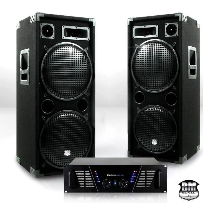 pack sono dj ampli 2 x 800w enceintes 2 x 1000 w pack. Black Bedroom Furniture Sets. Home Design Ideas