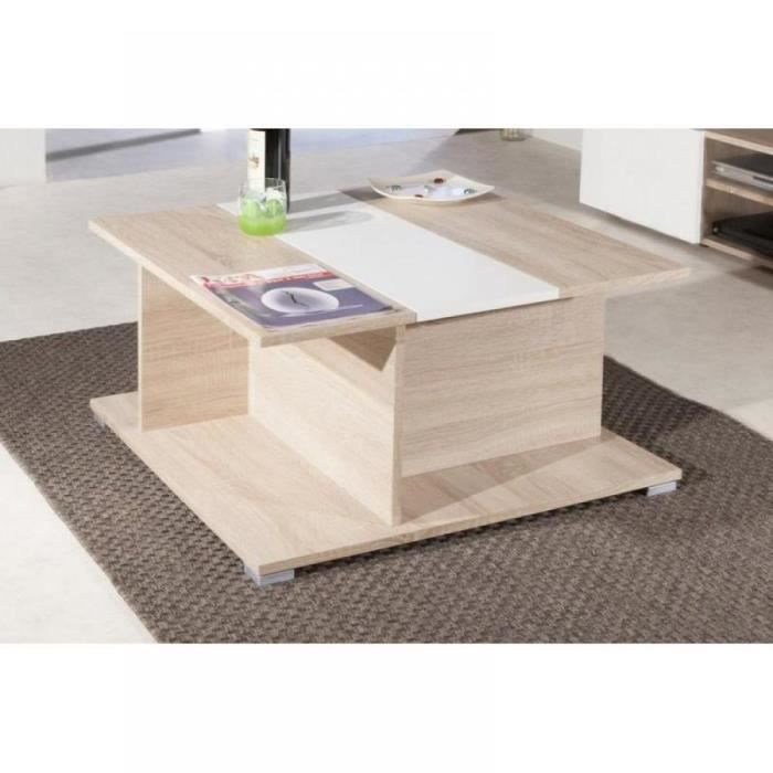woody table basse en ch ne avec rangements pla achat. Black Bedroom Furniture Sets. Home Design Ideas