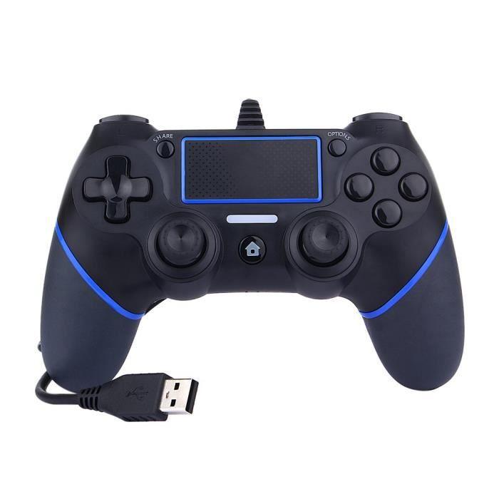 MANETTE JEUX VIDÉO Manette de jeu Contrôleur de jeu filaire USB PS4 B