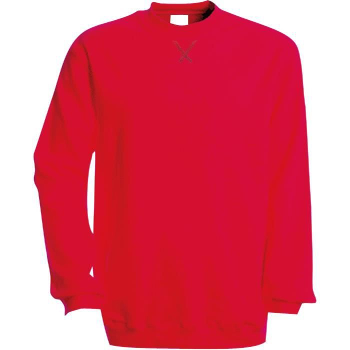Sweat-shirt encolure ronde Kariban Red Gris - Achat   Vente ... 51a138540650