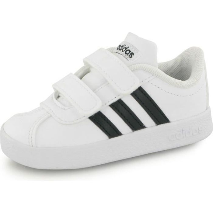 Adidas Vl Court 2.0 Velcro blanc, baskets mode enfant