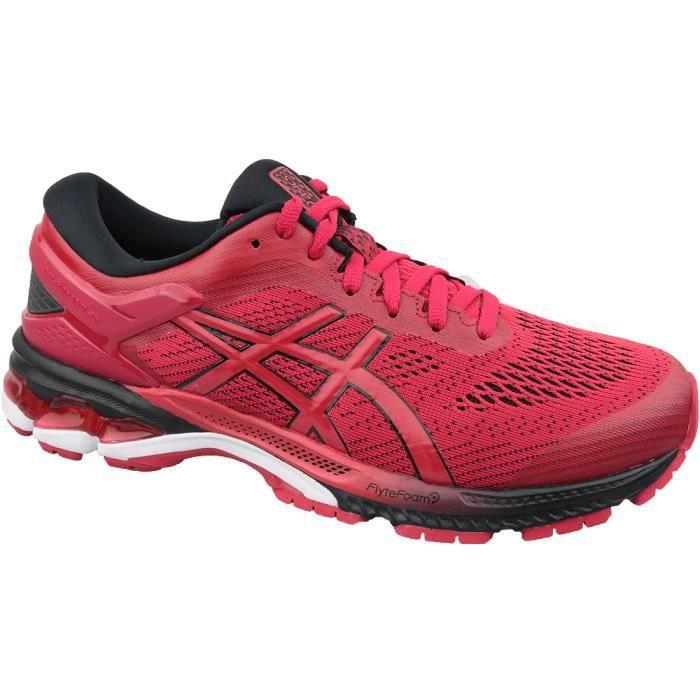 asics femme running rouge