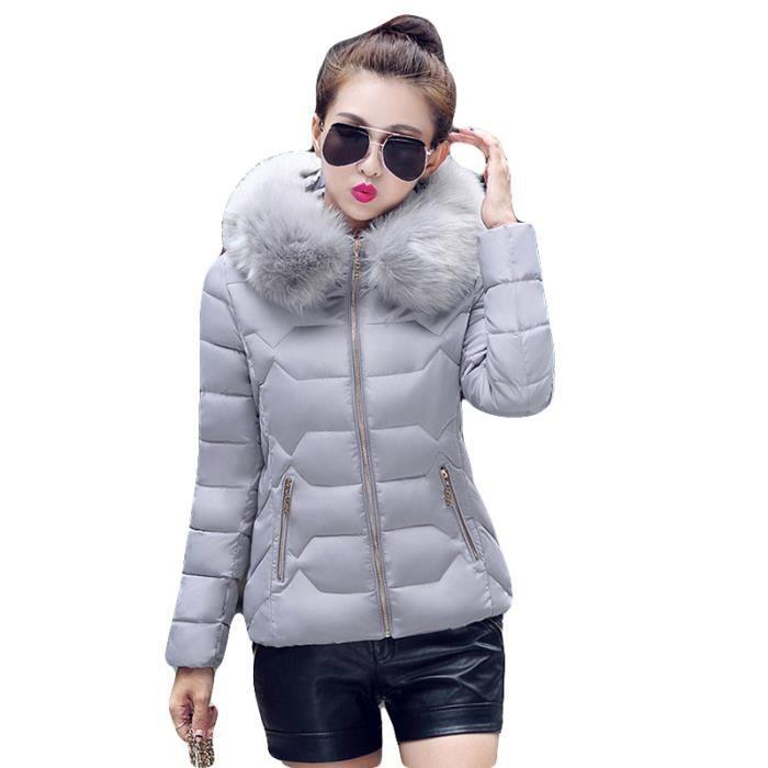 Doudoune Femme Marque Luxe hiver slim a capuche Vêtements de