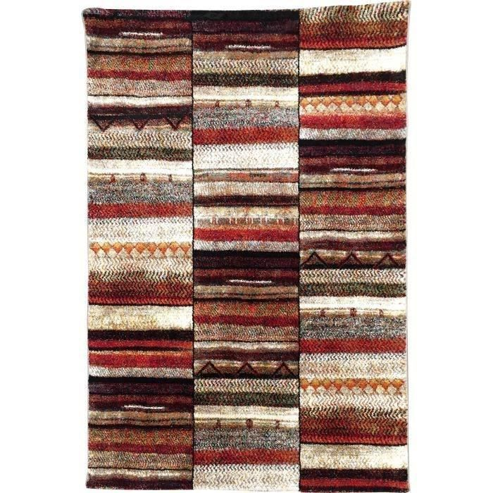 Grand MAROKKO Tapis De Salon 120x170 Cm   Beige Et Marron