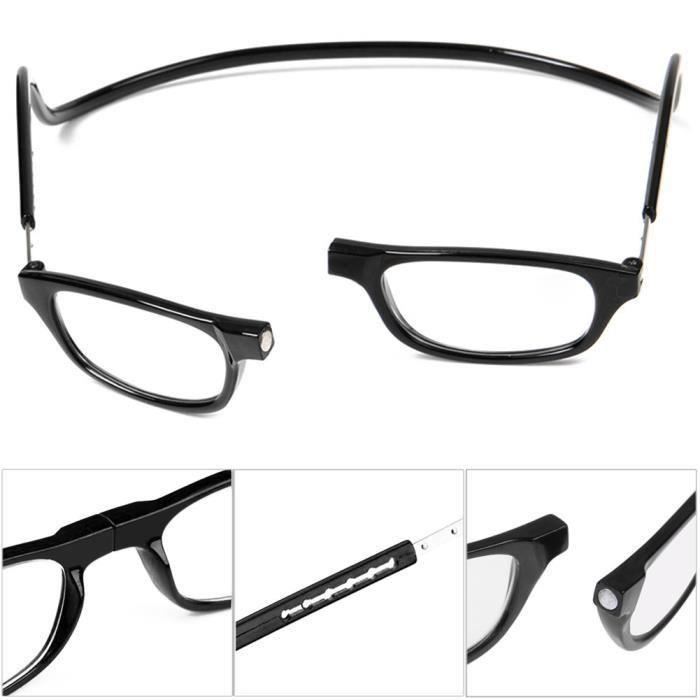 ee29e456e3d +2.5 Anti-Fatigue Lunette Loupe Lecture Radiation Protection Presbytie  Aimant Leger Noir