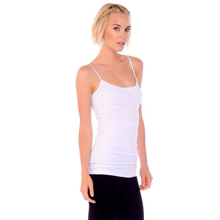 H2hb1 Junior Adjustable Plus Top Women's 42 Pack And Long Strap Spaghetti 4 Taille 2 Tank wW7tfA