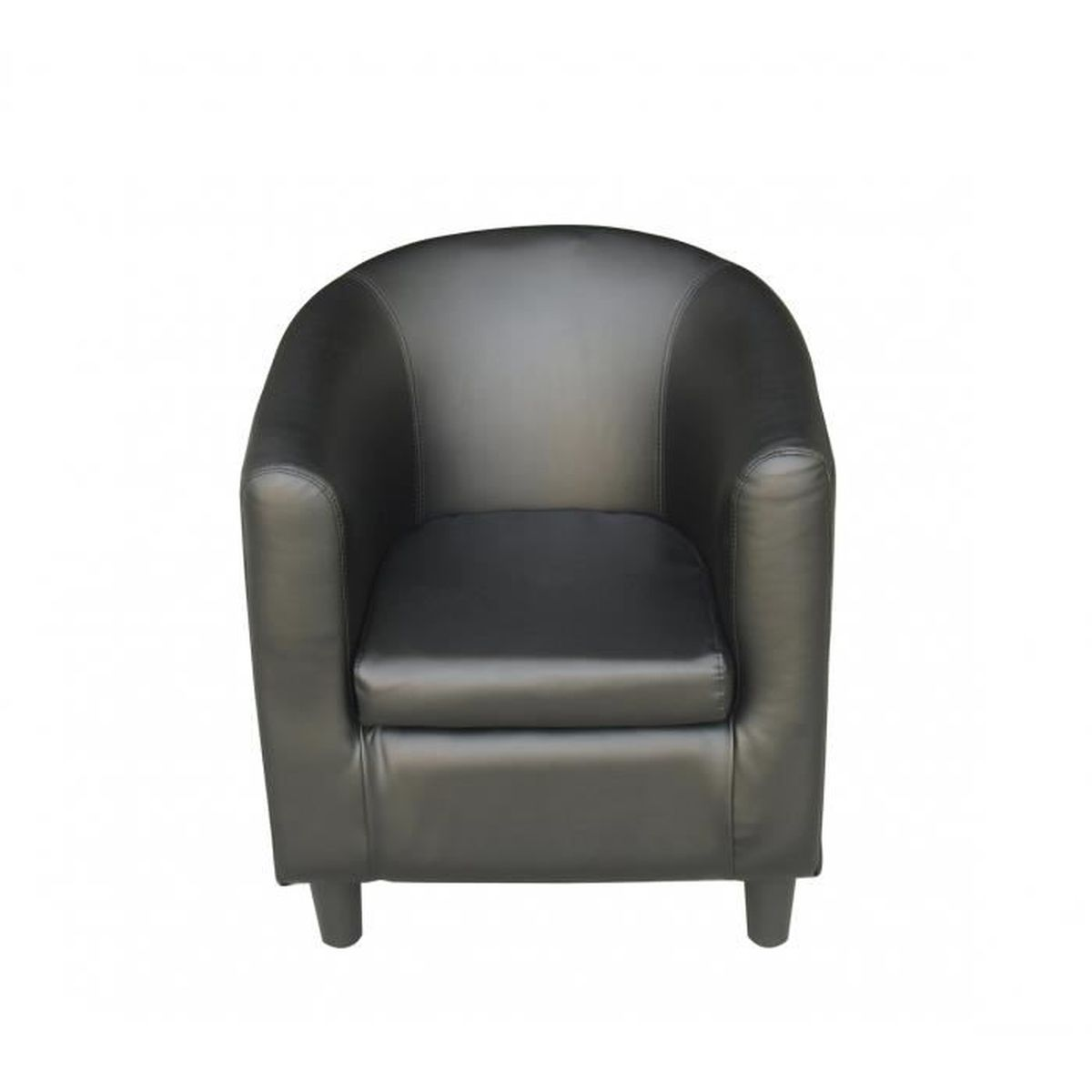 fauteuil noir cabriolet confortable luc achat vente. Black Bedroom Furniture Sets. Home Design Ideas