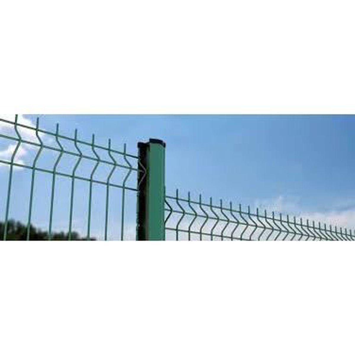 Brise Vue Hauteur 1M70 kit de 250ml de clôture rigide (vert ral 6005) comprenant