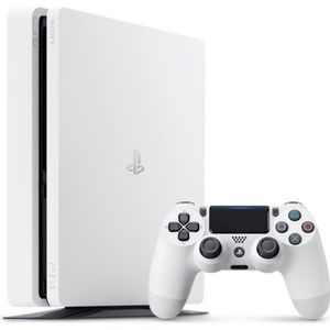 CONSOLE PS4 PS4 Slim - Blanc glacier - 500 Go
