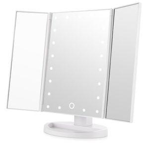 MIROIR DE POCHE  Miroir Maquillage Miroir Lumineux Miroir LED Tripl