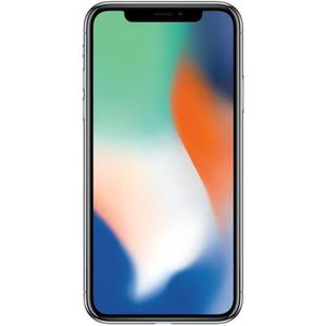 SMARTPHONE iPhone X 256 Go Argent Reconditionné - Comme Neuf