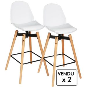 tabouret de bar 4 pieds bois achat vente tabouret de. Black Bedroom Furniture Sets. Home Design Ideas