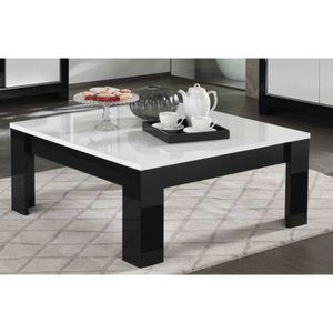 Table Basse Carree Modena 100 X 100 Cm De Coloris Noir Et Blanc