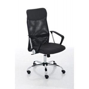 CHAISE DE BUREAU Fauteuil chaise de bureau en maille gris avec 5 ro