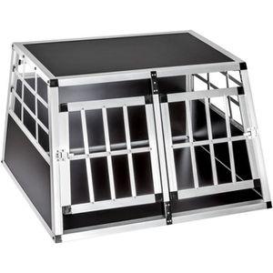 CAISSE DE TRANSPORT Cage box caisse de transport chien mobile aluminiu