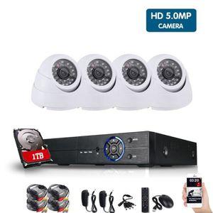 CAMÉRA DE SURVEILLANCE 8ch Super HD 5MP CCTV Kit de surveillance DVR Enre