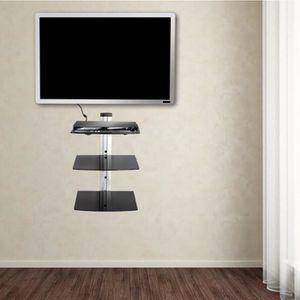 FIXATION - SUPPORT TV 80cm Support mural pour lecteur DVD 3 étagères Noi