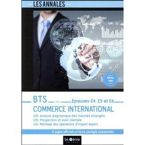 MANUEL UNIVERISTAIRE Livre - BTS commerce international ; épreuves E4,