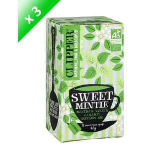 INFUSION [LOT DE 3] CLIPPER Infusion sweet mintie - 3 x 40g