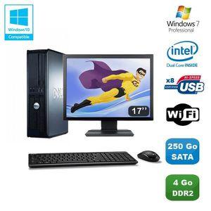 UNITÉ CENTRALE + ÉCRAN Lot PC DELL Optiplex 760 DT Dual Core E5200 2,5Ghz