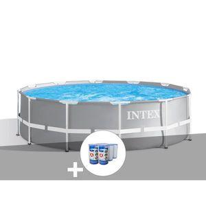 PISCINE Kit piscine tubulaire Intex Prism Frame ronde 3,66