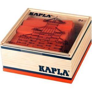 ASSEMBLAGE CONSTRUCTION KAPLA Coffret Bois 40 Planchettes - Orange