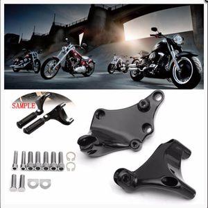 SODIAL 1 Paire Autoroute Moteur Garde Crash Bar Repose Pieds pour Harley Honda Suzuki Moto Accessoires Partie Repose Pieds Voiture Style Noir
